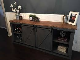 black tv cabinet with sliding doors stand rustic distressed barn door console furniture could be a