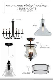 Farmhouse Style Lighting Affordable Modern Farmhouse Ceiling Lights From Lowes O Miss In