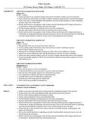 Creative Marketing Resume Samples Velvet Jobs