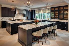 kitchens with 2 islands kitchen with two black islands view full size fixer upper kitchen with