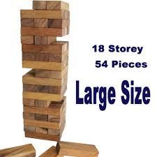 How To Play Tumbling Tower Wooden Block Game Large JENGA Tower Tumbling Blocks Deluxe Edition With Wooden Box 80