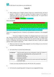 essay structure worksheet worksheet esl printable  essay structure worksheet