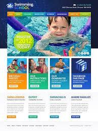 Kids School Website Template Swimming School Website Template Website Themes School