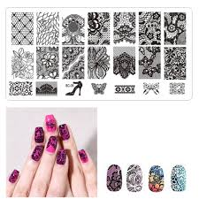 Aliexpress.com : Buy Lace Nail Plate Charm Lady Template Lace ...