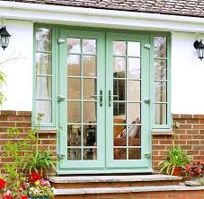 everest front doors prices. full view of everest upvc french doors in a chartwell green front prices