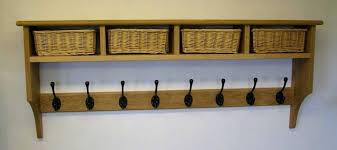 Coat Hook Rack With Shelf Adorable Wall Coat Hooks With Shelf Wall Mount Storage Shelf Coat Rack
