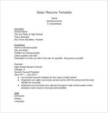 High School Resume Template Download Monzaberglauf Verbandcom
