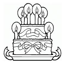 Small Picture Cakes Without Color Coloring Pages Part 2