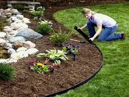landscape edging also for flowerbeds rigid lawn black yard