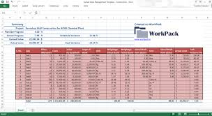 Construction Project Schedule Template Excel Construction Management Excel Templates Schedule Template
