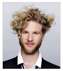 Hair Style For Men With Curly Hair hairstyle for curly hair men along with curly messy blonde hair 1329 by wearticles.com
