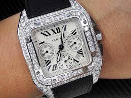 17 best images about cartier skeleton watches custom cartier santos 100 xl chronograph men s diamond watch