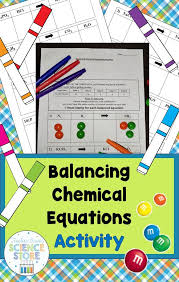 use m m cans to practice balancing chemical equations in the fun hands on activity