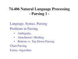 Chart Parsing Ppt 74 406 Natural Language Processing Parsing 1