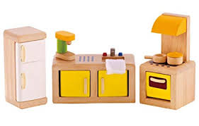 Cheap dolls house furniture sets Kit Image Unavailable Image Not Available For Color Hape Wooden Doll House Furniture Kitchen Set With Accessories Amazoncom Amazoncom Hape Wooden Doll House Furniture Kitchen Set With