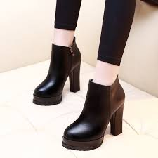 <b>2019 Women Ankle Boots</b> Sheepskin Soft Leather Round Toe Zip ...