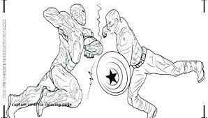 Captain America Coloring Picture Super Heroes Captain Coloring Page