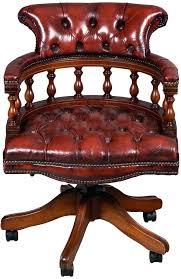 vintage office desk. Vintage Captains Chair Antique Style Red Leather Office Desk On Wheels