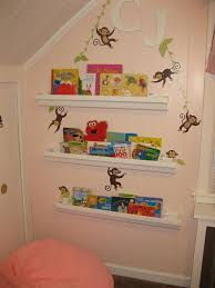 cute furniture.  Cute Pink Bookshelves Furniture Three White Wooden Graded Floating  On Wall Cute For Kids And V
