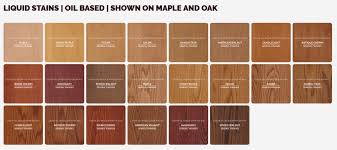 Stain Colors On Maple Coshocton