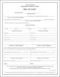 Auto Bill Of Sale Template Pdf