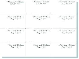 Place Cards Template For Word Place Card Template Word