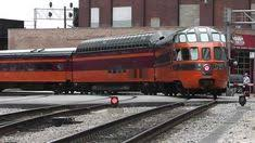 amtrak s empire builder departing chicago with milwaukee road hiawatha cars 22 07 12