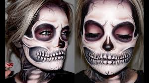 skeleton skull makeup tutorial brianna fox