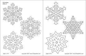 Blank Snowflake Template Snowflake Coloring Pages Free Printable Templates