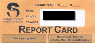 report card envelopes mcdonalds advertises on elementary school report cards consumerist