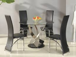 modern black round dining table. Round Glass Dining Tables And Chairs For 4 Modern Black Table D
