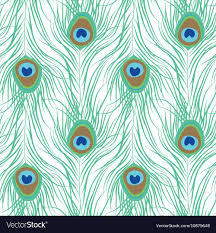 Peacock Pattern Beauteous Peacock Feather Seamless Pattern Royalty Free Vector Image
