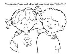 Small Picture Love Each Other Coloring Page Sunday School Coloring Pages