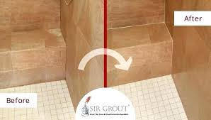 tile shower cleaner best way to clean ceramic tile shower before and after picture of a
