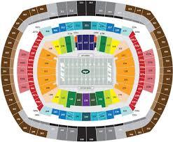 New Jets Stadium Seating Chart