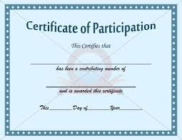 Sample Baptism Certificate Template Extraordinary Participation Certificate Template PARTICIPATION CERTIFICATION