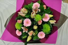 Image result for gerbera hand tied