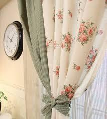 La tenda della finestra grande fiore tessuto in lino cotone, fatto a ...