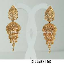india gold plated chandelier earrings jewelry maker gold plated jhumka earrings jewellery export supplier