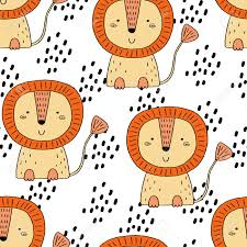 Printable Stencils For Kids Cute Lion Pattern Print For Kids Printable Templates Royalty Free