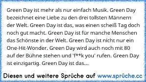 Green Day Ist Mehr Als Nur Einfach Musik Green Day Bezeichnet Eine