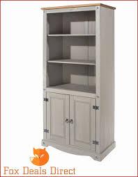 pine shelf storage unit best of grey washed corona bookcase pine 2 door shelves mexican