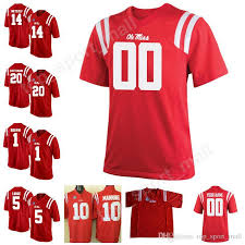 Miss 10 Rebels Camisetas 20 Metcalf F�tbol Cosidas Patterson Ole De Personalizado Kids 14 Jersey Taamu Hombre Hacer College Dk Shea