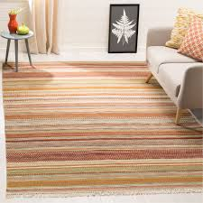 amazing safavieh striped kilim hand woven wool brownbeige area rug pertaining to striped area rugs modern
