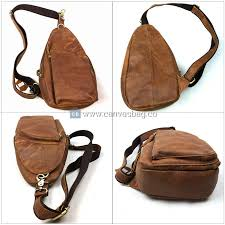 home leather sling backpack