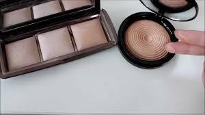 makeup revolution highlighter radiant light glow swatch und vergleich zur hourglass palette you