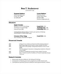 Cv Template For University Student Metabots Co