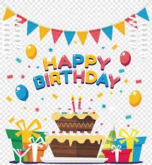 Happy Birthday Background Design Png Happy Birthday Illustration Birthday Cake Birthday