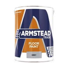 Armstead Trade Floor Paint Grey 5 Litre