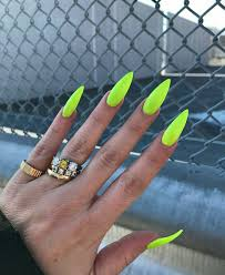 Neon Nail Designs Pinterest Pinterest Mnnxcxx Stiletto Nails Gel Nails Yellow Nail Art
